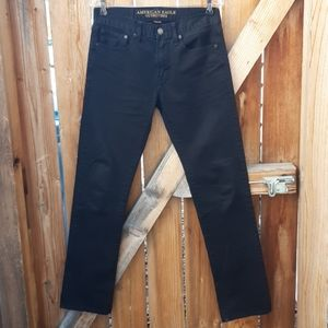 American eagle black jeans slim straight mens